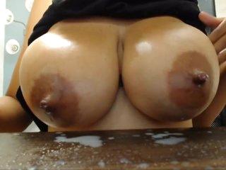 Alarming Curvy Tattooed Latina Lactating On Webcam