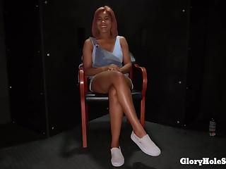 Cute Ebony Sucks Convenient Gloryhole