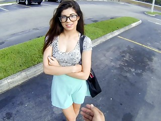 Cute Young Petite Latina Teen Paid Cash To Fuck Stranger POV