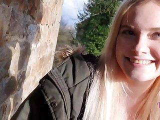 Cute Teen Fuck in a Real Deserted Castle !