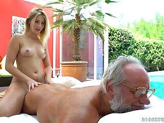 Aria Logan and her much doyenne affiliate - Grandpas Fuck Teens