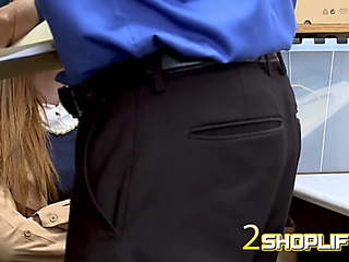 Ella is undressed down for a cavity search conducted by concupiscent officer