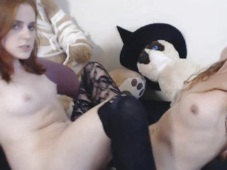 Wicked Lesbo Bonks Their CumHole At The Same Time
