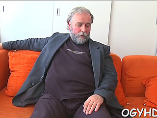 Sexy youthful sweetheart fucked by old chap