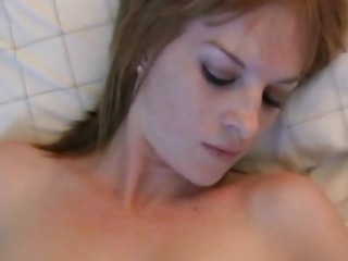 Cute Redhead Teen Strips and Spreads Pussy