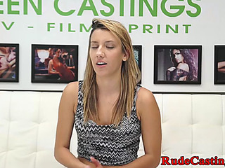 Dilettante honey roughly fucked during casting