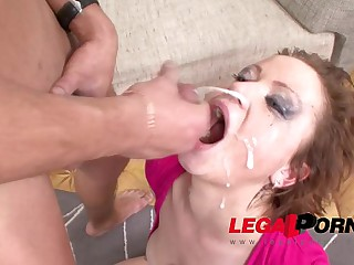Exotic babe Ksenia extreme gagging blowjob and Face Fuck