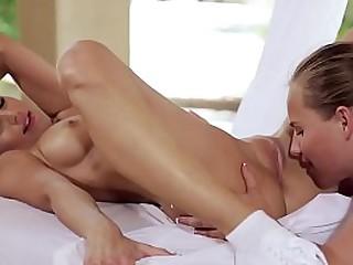 GIRLSGONEWILD - Sensual Rub Down Leads To Hot Lesbian Sex